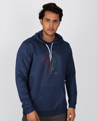 Shop Peace Puff Fleece Hoodie-Front