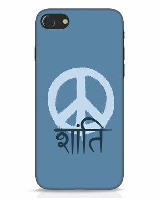Shop Peace Shanti iPhone 7 Mobile Cover-Front