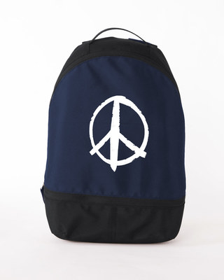 Shop Peace Symbol Essential Mini Backpack-Front