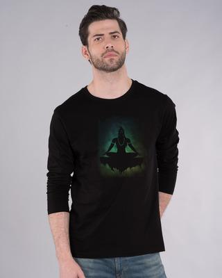Shop Peace Yogi Full Sleeve T-Shirt-Front