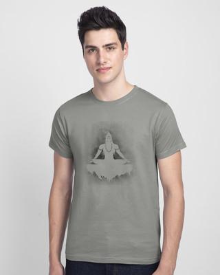 Shop Peace Yogi Half Sleeve T-Shirt-Front