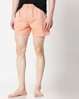 Shop Peach Cone Men's Boxers-Front