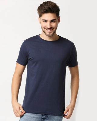 Shop Pageant Blue Half Sleeve T- Shirt-Front