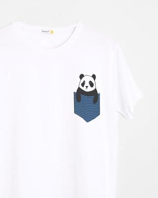 Shop Peek-a-boo Panda Half Sleeve T-Shirt-Front