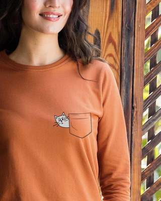 Shop Peek-a-cat  Sweatshirt-Front