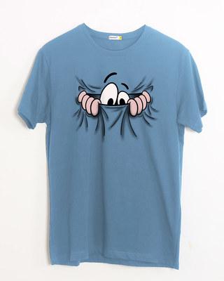 Shop Peek Out Half Sleeve T-Shirt-Front