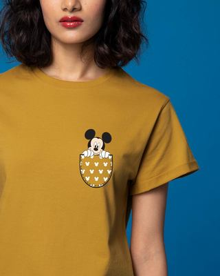 Shop Peek Out Mickey Boyfriend T-Shirt (DL)-Front