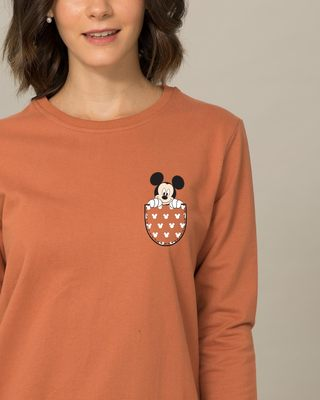 Shop Peek Out Mickey Sweatshirt (DL)-Front