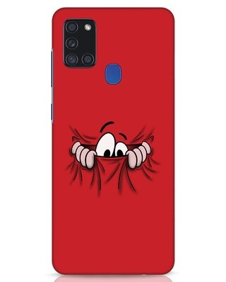 Shop Peek Out Samsung Galaxy A21s Mobile Cover-Front