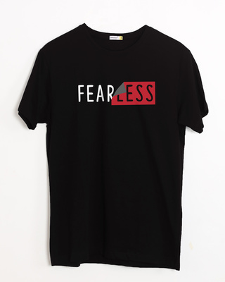 Shop Peel Off Fearless Half Sleeve T-Shirt-Front
