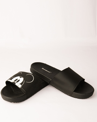 Shop Peeping Mickey Sliders (DL)-Front