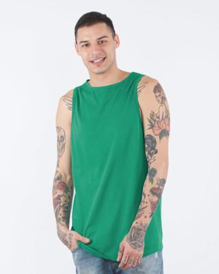 Shop Peppermint Green Longline Vest-Front