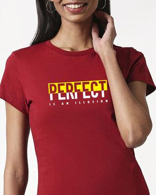 Shop Perfect Illusion Half Sleeve Printed T-Shirt Velvet Cake-Front