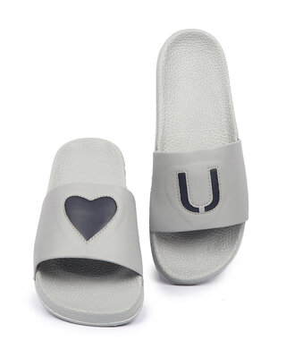 Shop Pery-Pao Latest Mens Grey Flip Flops-Front