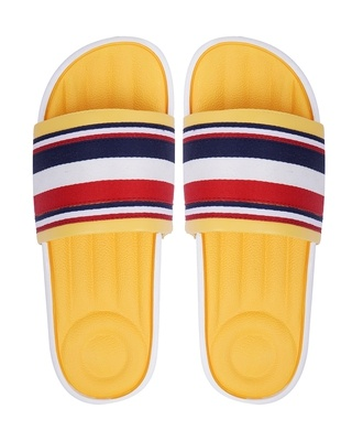 Shop Pery Pao Latest Mens Yellow Flip Flops-Front