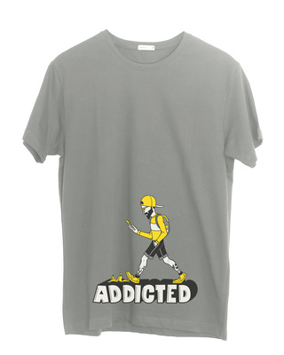 Shop Phone Addict Half Sleeve T-Shirt-Front