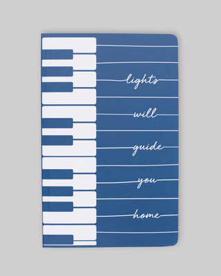 Shop Piano Lights Notebook-Front