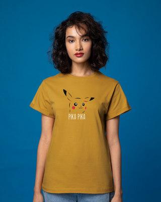 Shop Pika Pika Boyfriend T-Shirt-Front