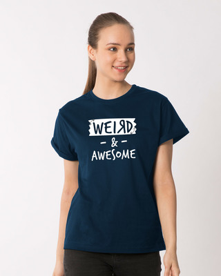Shop Pin Weird Boyfriend T-Shirt-Front
