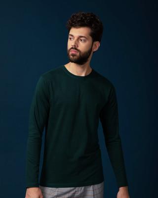 Buy Pine Green Full Sleeve T-Shirt Online India @ Bewakoof.com
