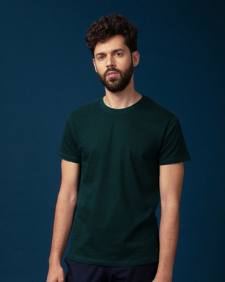 Shop Pine Green Half Sleeve T-Shirt-Front