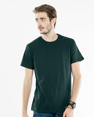 Shop Pine Green Half Sleeve T-Shirt-Front