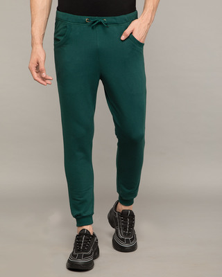 Shop Pine Green Round Pocket Joggers Pants-Front