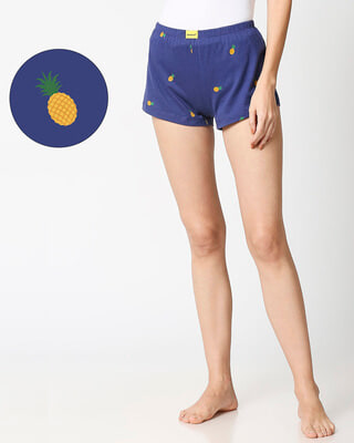 Shop Pineapple AOP Cotton Boxer-Front
