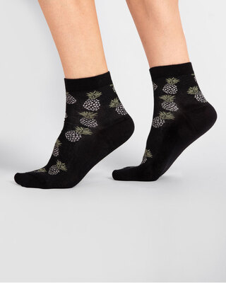 Shop Pineapple Squash Ankle Length Socks-Front