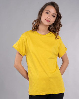Shop Pineapple Yellow Boyfriend T-Shirt-Front