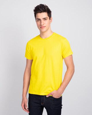 Shop Pineapple Yellow Half Sleeve T-Shirt-Front