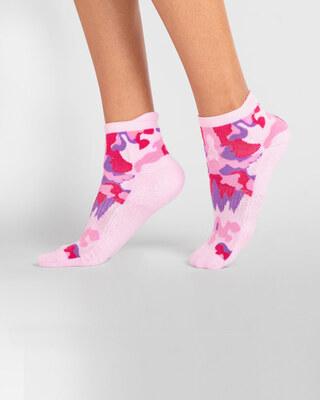 Shop Women's Pink Camo Ankle Length Socks-Front