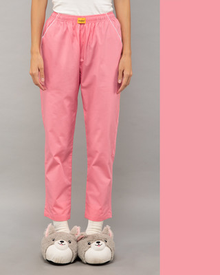 Shop Pink Carnation Plain Pyjama-Front