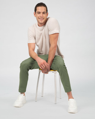 Shop Pista Green Pants-Front