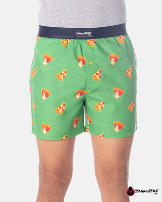 Shop Smugglerz Pizza Boxer Green-Front