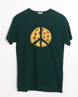 Buy Pizza Peace Half Sleeve T-Shirt Online India @ Bewakoof.com