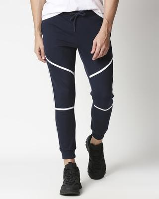 Shop Plain  Casual Color Block Jogger Pant-Front