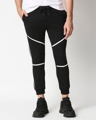 Shop Plain Casual Colour Block Jogger Pant-Front