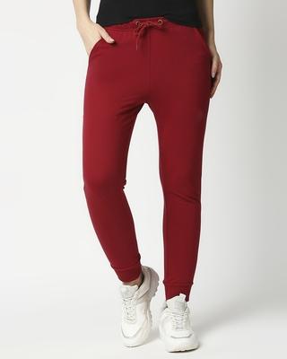 Shop Plain Casual Jogger Pants-Front