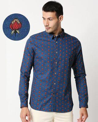 Shop Men's Printed Ethnic Shirt-Front