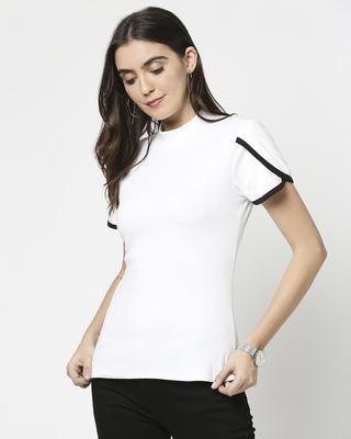 Shop Women's Petal Sleeves T-Shirt-Front
