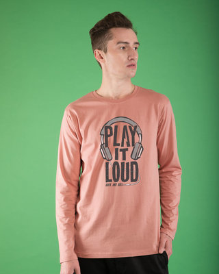Shop Play It Loud Full Sleeve T-Shirt-Front