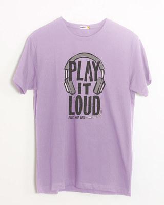 Shop Play It Loud Half Sleeve T-Shirt-Front