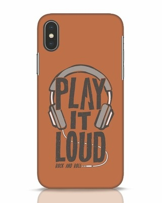 Shop Play It Loud iPhone X Mobile Cover-Front