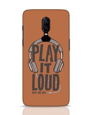 Shop Play It Loud OnePlus 6 Mobile Cover-Front