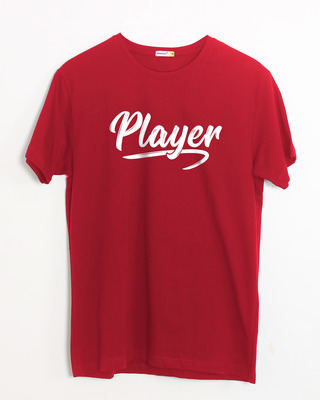 Shop Player Typography Half Sleeve T-Shirt-Front