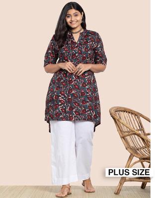 Shop Women's Printed Plus 3/4th Sleeve Kurta-Front