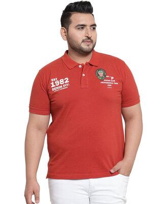 Shop PlusS Men T Shirt Half Sleeves-Front