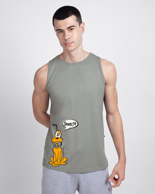Shop Pluto Snack Round Neck Vest (DL) Meteor Grey-Front