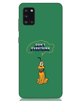 Shop Pluto Thinking Samsung Galaxy A31 Mobile Cover (DL)-Front